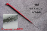 Heavenly Illusions Coated German Rooting Needle Red 46 Gauge 6 Barb