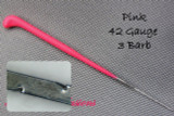 Heavenly Illusions Coated German Rooting Needle Pink 42 Gauge 3 Barb