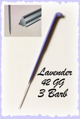Heavenly Illusions Coated German Rooting Needle Lavender 42 GG 3 Barb