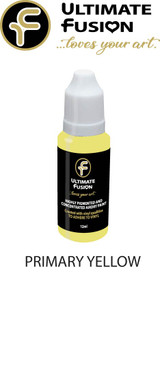 Ultimate Fusion All in One Air Dry Paint Primary Yellow 12ml Bottle