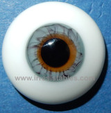 German Glass Eyes: Solid Half Round Flat Back Gray #32481