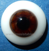 German Glass Eyes: Solid Half Round Flat Back  Chocolate Brown #32551