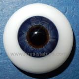 German Glass Eyes: Solid Half Round Flat Back Dark Blue #32431