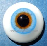 German Glass Eyes: Solid Half Round Flat Back Azur Blue #32421