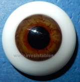 German Glass Eyes: Solid Half Round Flat Back Hazel #32522