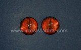 Fantasy Glass Cabochon Hand Printed Eyes Flat Back Red 20 MM