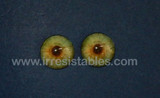 Fantasy Glass Cabochon Hand Printed Eyes Flat Back Light Green 20 MM