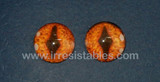 Fantasy Glass Cabochon Hand Printed Eyes Flat Back Burnt Orange 20 MM