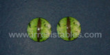 Fantasy Glass Cabochon Hand Printed Eyes Flat Back Green 20 MM