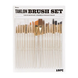 Taklon Paint Brush Set: 18 pieces