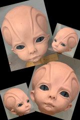 Andromeda Alien Human Hybrid Child Reborn Vinyl Doll Kit by Laurie Sullivan