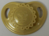 "HoneyBug Sweetheart Newborn Precious Vintage Pacifier for 18"" Dolls-Old Gold"