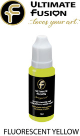 Ultimate Fusion All in One Air Dry Paint Fluorescent Yellow 12ml Bottle (.4 ounce)