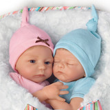 "Donna Lee ""Madison And Mason"" Poseable Twin Baby Doll Set"