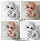 Eyora the Demon Vampire by Jade Warner Solid Silicone Doll Head Unpainted - HEAD ONLY