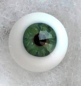 German Glass Eyes: Full Round Mouth Blown Jade Green