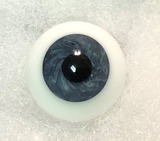 German Glass Eyes: Full Round Mouth Blown Sapphire Blue 58