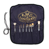 Reborn Artist Brush Set  of 12 Soft-Grip Brushes Plus Apron for Easy Storage