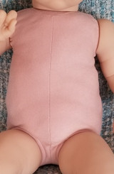 """German Doe Suede Body for 21-22"""" Dolls Full Unjointed Arms Full Unjointed Front  Legs #1253GF"""