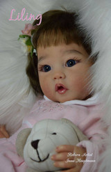 Liling Reborn Vinyl Doll Head by Ping Lau - Head Only