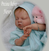 Noah Asleep Reborn Vinyl Doll Head by Reva Schick - Head Only