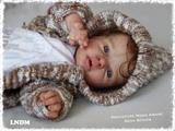 Noah Awake Reborn Vinyl Doll Head by Reva Schick - Head Only