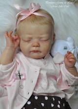 Penelope Reborn Vinyl Doll Head by Jannie De Lange - Head Only