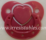 Magnetic Pacifier for Newborn and Toddler Dolls Raspberry Heart
