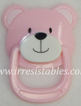 Magnetic Pacifier for Newborn and Toddler Dolls Pink Teddy Bear