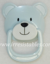 Magnetic Pacifier for Newborn and Toddler Dolls Blue Teddy Bear