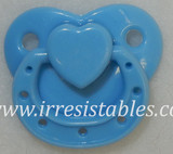 Magnetic Pacifier for Preemie Dolls Blue with Heart
