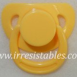 Magnetic Pacifier for Newborn and Toddler Dolls Ducky Yellow