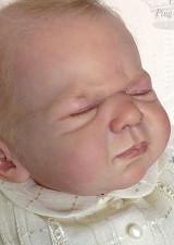 Newborn George Reborn Vinyl Doll Head by Ping Lau - Head Only