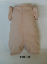 """German Doe Suede Body for 28"""" Dolls Full Unjointed Arms Full Unjointed Straight Legs #513STGF"""