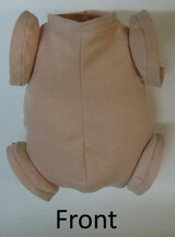 "Doe Suede Body for 18"" Dolls Full Jointed Arms Full Jointed Legs #1493"