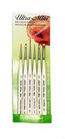 Silver Brush Ultra Mini 6 Brush Basic Fine Detail Set UMS-2460S