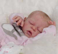 Erin Reborn Vinyl Doll Head by Adrie Stoete  Mix & Match