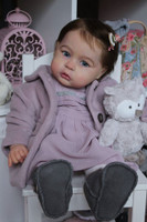 Princess Charlotte at Age 1 Reborn Doll Kit with Straight Legs by Tomas Dyprat