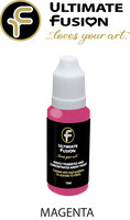Ultimate Fusion All in One Air Dry Paint Magenta 12ml Bottle (.4 ounce)
