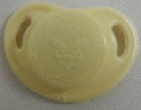 """HoneyBug CutiePie Micro Preemie Pacifier For 10-13"""" Dolls- Frosted Yellow"""