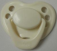 "HoneyBug Sweetheart Newborn Pacifier for 18"" Dolls-Cream Puff"