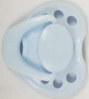 "HoneyBug Sweetheart Newborn Pacifier for 18"" Dolls-Baby Blue"