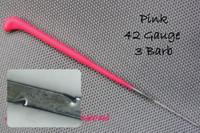 Heavenly Illusions Coated German Rooting Needle Pink 42 Gauge 3 Barb