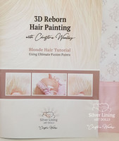 Blonde Hair Tutorial Set for 3-D Reborn Hair Painting by Christine Woolley