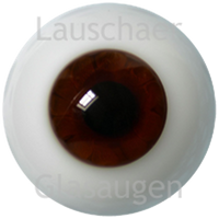 German Glass Eyes: Solid Half Round Flat Back  Chocolate Brown #32551