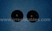 Fantasy Glass Cabochon Hand Painted Eyes Flat Back One of a Kind Black 20 MM