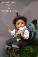 Flo The Mini ELf Reborn Vinyl Doll Kit by Natali Blick