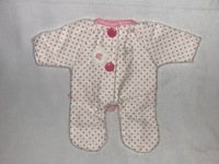 Premie Flannel Doll Outfit for 9 to 10 inch baby dolls 0218-300