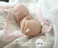 Faye the Mini Unicorn Hybrid Baby by Jade Warner Solid Silicone Doll Head Unpainted - HEAD ONLY