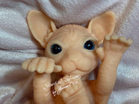 Casseopeia the Sphinx Kitten by Joanne Elise Silicone Full Body Doll Kit Unpainted